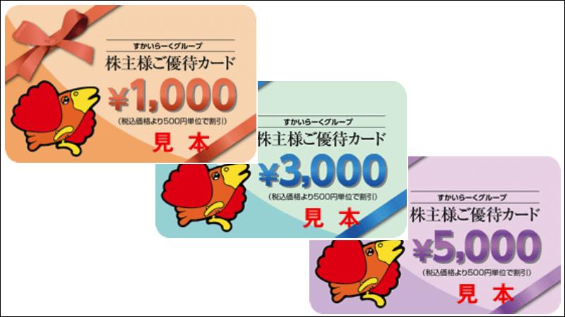 3197すかいらーく「株主優待カード」