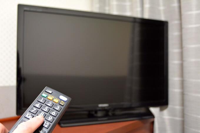 テレビの電源を消したところ
