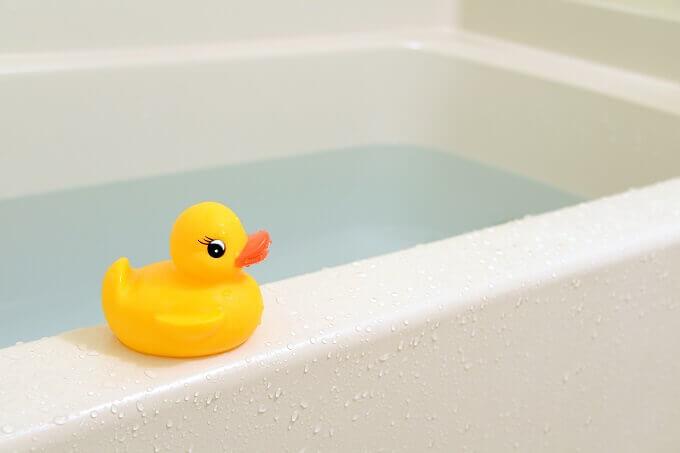 浴槽に入ったお湯
